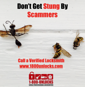 1800unlocks Stung, call verified locksmith, certified locksmith