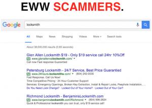 Scammer Locksmith Listings