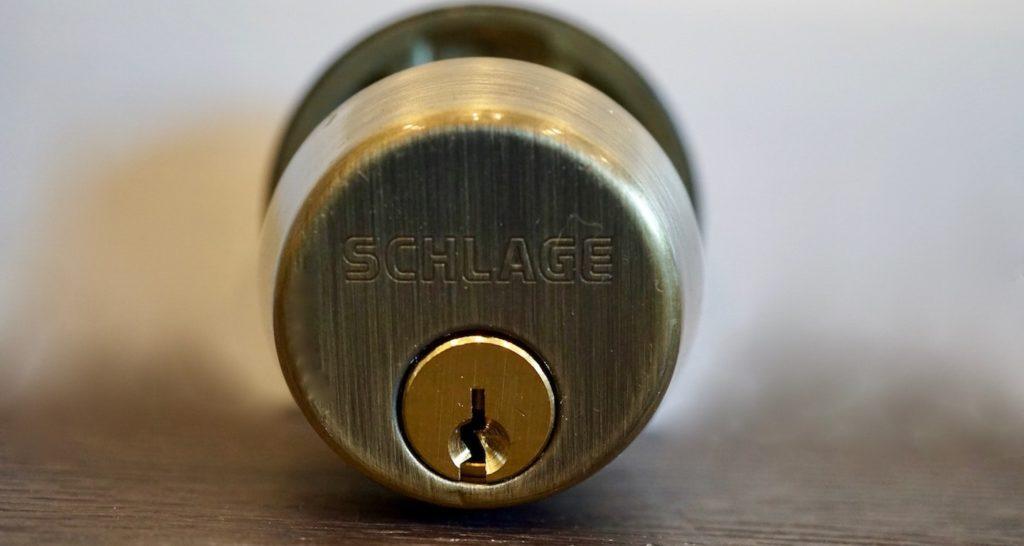 Schlage-Deadbolt-Bronze