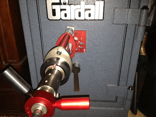 Safes can be drilled and scoped for emergency access.