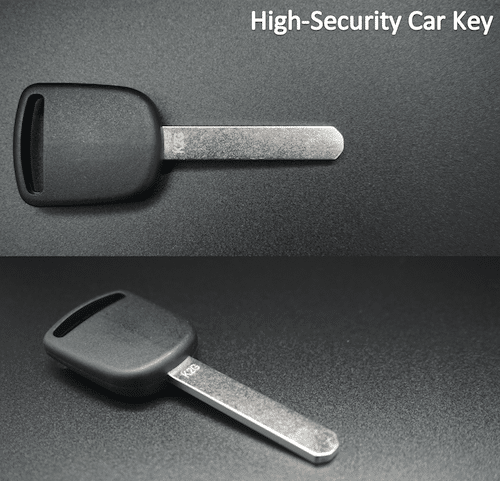 high-security car key example