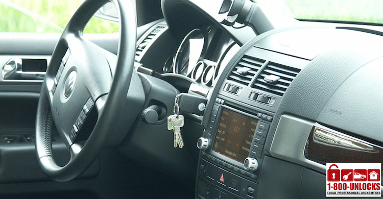 locked out of car with car keys in car ignition