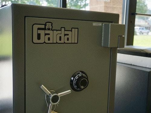 Gardall gun safe with combination lock